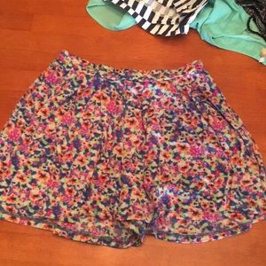 Colorful flowy shorts